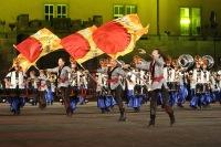 Die Aimachi Marching Band bot eine schnelle Show