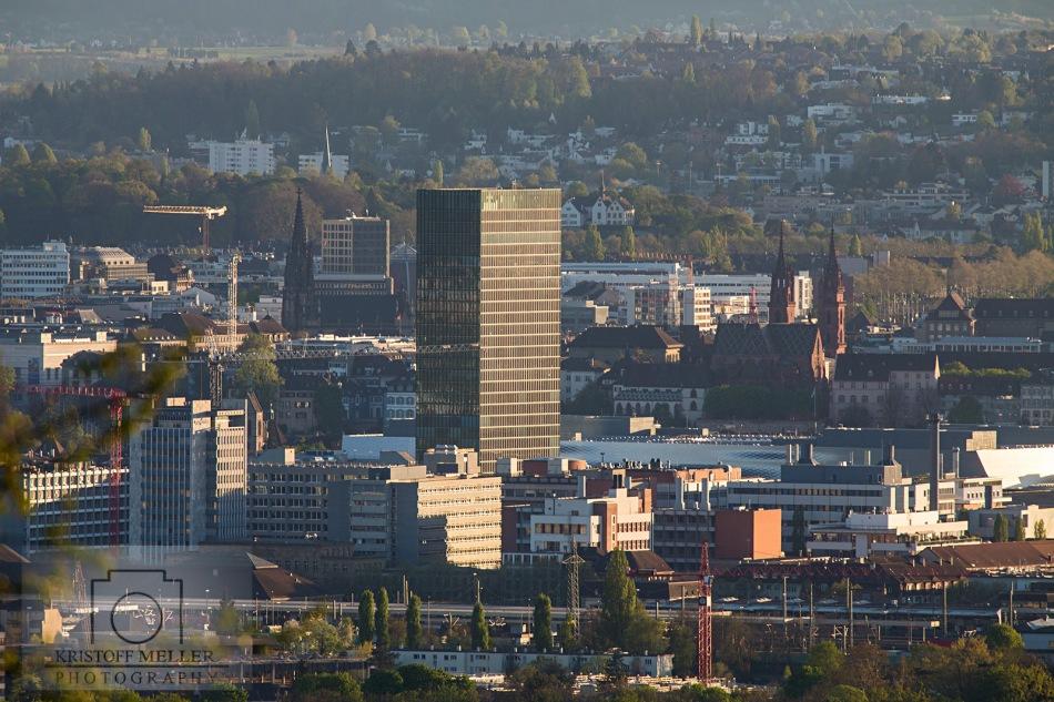 Der Messeturm von Basel