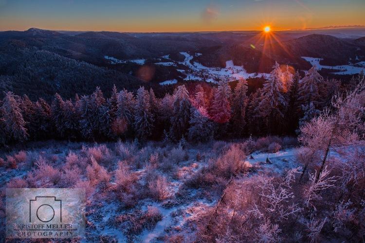 Hochblauen Sonnenaufgang