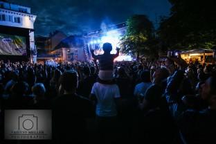Stimmen-Festival 2017 - Beginner und Robeat (Support) auf dem Marktplatz Lörrach