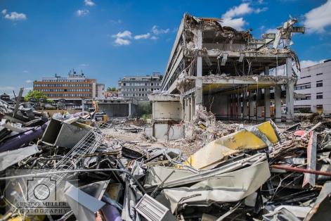 Trümmerlandschaft mitten in der Stadt